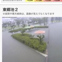 【氾濫危険水位】豪雨の鳥取 湯梨浜町 東郷池 氾濫危険水位に!「東郷池溢れとるやん」