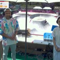 【朗報】東京五輪キャスターの北島康介 スケボー解説にルイヴィトン全開で登場!アロハはなんと17万円!「北島康介さんが着てた服に見覚えがあるなと思ったら ジンくんがvliveで着てたやつだった」