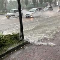 【動画】台風前のゲリラ豪雨 熊本市で道路が冠水!「台風上陸する前から熊本どえらい雨だな はません冠水しとるやんけ!」