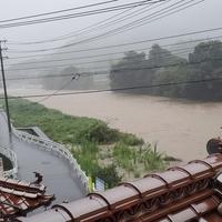 【氾濫】広島県広島市 三篠川が氾濫危機! 「三篠川がやばいらしいけど、西日本豪雨の時みたいになりそうで・・・」