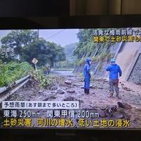 【土砂崩れ】伊東線 伊豆多賀~網代駅間で土砂崩れ発生!「伊東線の土手です。 ずっと前にもあったんですね。」