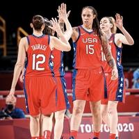 【驚愕】東京五輪 バスケ女子 アメリカのブリトニー・グライナー選手スラムダンクの魚住よりデカイと話題!「203cmって魚住よりデカいのかよ(゚ω゚)」